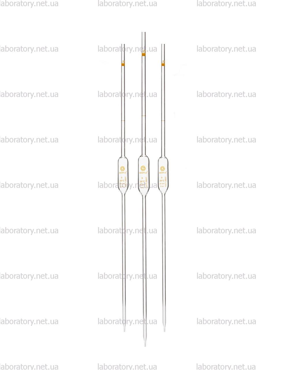 Пипетки мерные (Мора) с одной меткой и расширением