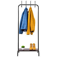 Стойка для одежды Fenster Лофт 8 Черный 178х70х49, Венге