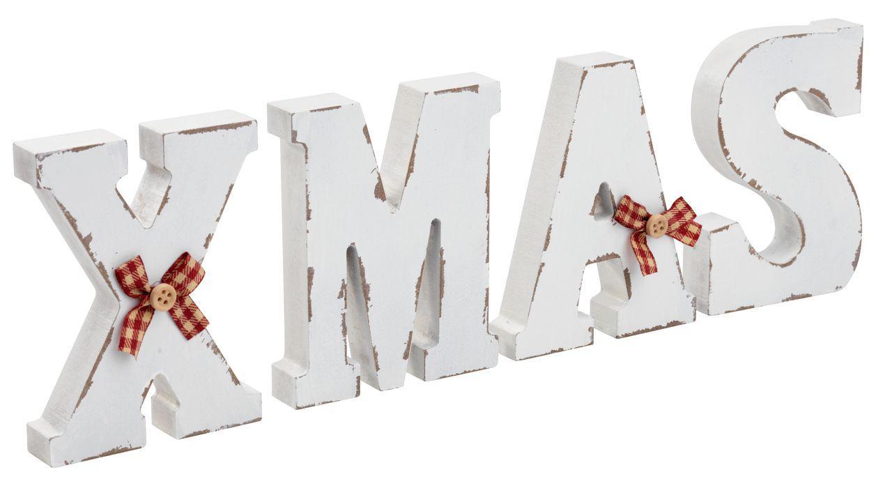 Декор деревянные буквы Рождество XMAS