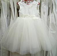 Нежное белое детское платье-маечка с вышивкой на 2-4 годика 9bcd813a6fe98