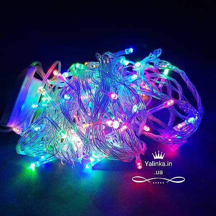 Гирлянда электрическая LED  100 новогодняя мульти -разноцветная   LED , фото 2