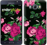 """Чехол на Samsung Galaxy J5 (2016) J510H Розы на черном фоне """"2239c-264-12392"""""""