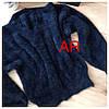 Женский ангоровый свитер с V-образным вырезом в расцветках. АР-22-1018, фото 6