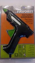 Пістолет для термоклея (силіконові стрижні) FAVORIT електричний 11мм 65Вт