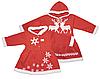 """Новогоднее платье с махровой опушкой """"Снежинка"""" для девочки"""