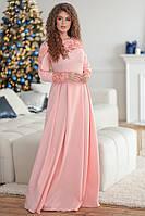 Нарядное платье костюмка и гипюр, фото 1