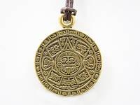 Амулет Календарь Ацтеков - КАМЕНЬ СОЛНЦА, великий алтарь во славу жизни с астрологическими символами
