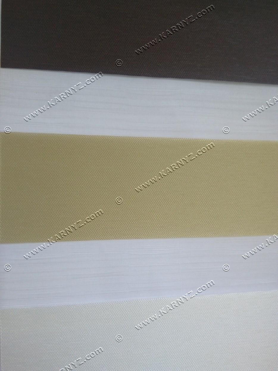 Ролета День-Ночь Панорама белый/бежевый/коричневый