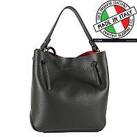 Кожаная итальянская сумка на плечо + косметичка Carla Berry