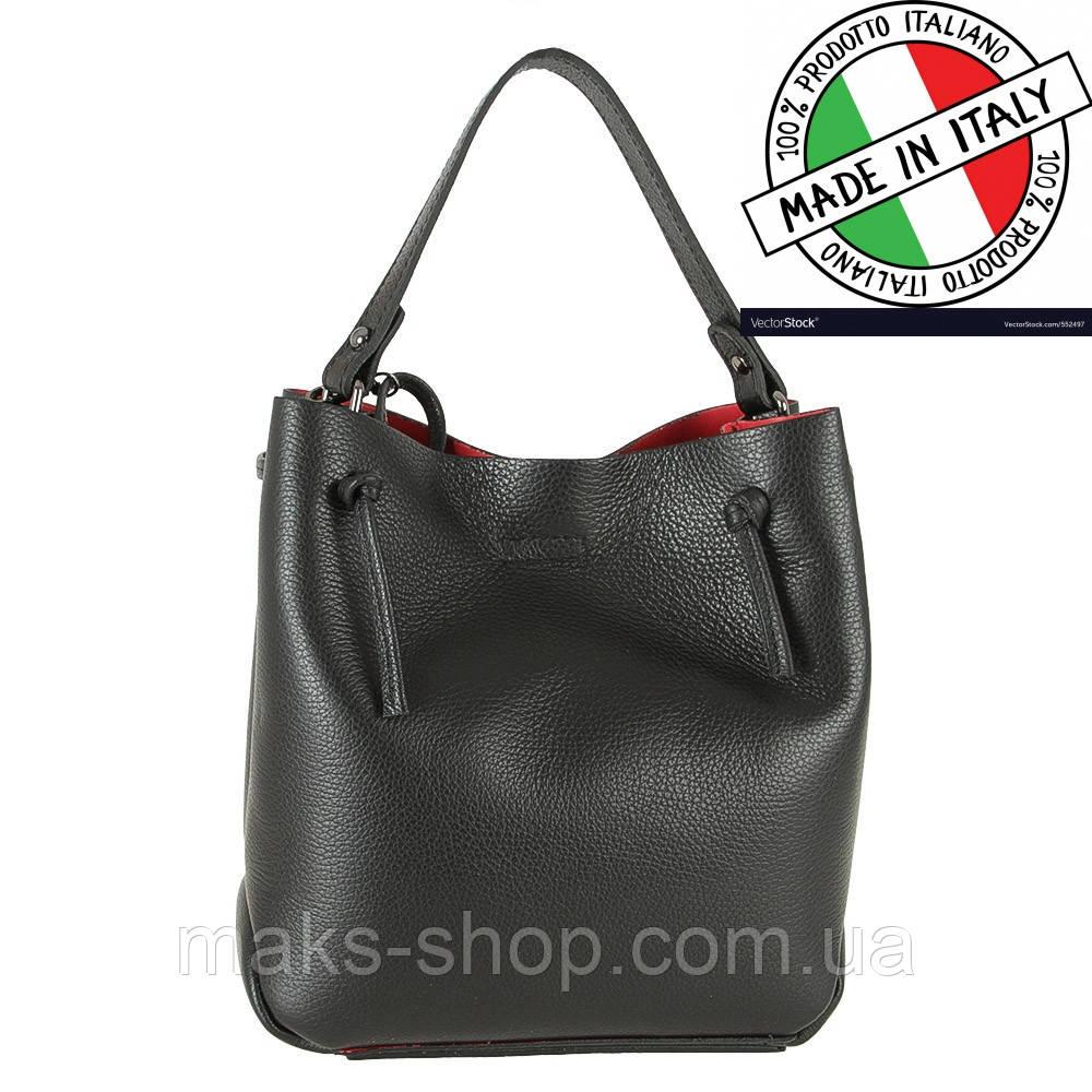 a1d9f50f443d Кожаная итальянская сумка на плечо + косметичка Carla Berry - Maks Shop-  надежный и перспективный