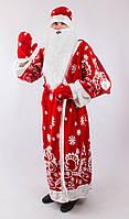 Карнавальный костюм Дед мороз красный с узором (52/54 универсал) СП