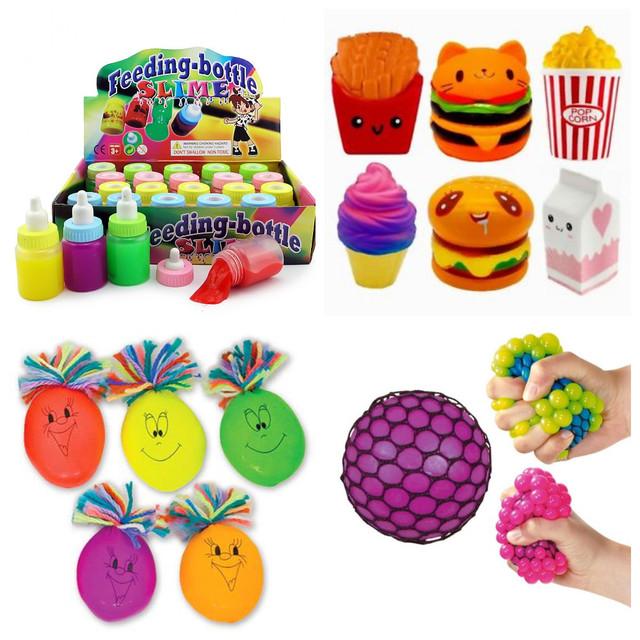 Іграшки-антистреси, сквиши, лізуни, жуйки для рук
