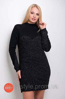 Платье женское меланж с люрексом