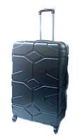 """Дорожный чемодан пластиковый 28"""" R17729 Черный"""