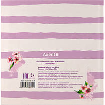 Блокнот Axent Aquarelle 8438-06-A, интегральная обложка, 165х165см, 80 листов, нелинованный, фото 3