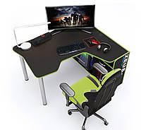 Геймерский стол Zeus IGROK-TOR (черный/зеленый), фото 1