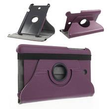 Чехол книжка кожаный Crazy Horse 360 для Asus Memo Pad ME180 фиолетовый