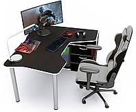 Геймерский стол Zeus IGROK-TOR (черный/белый), фото 1