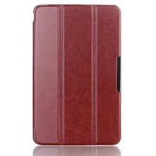 Чехол книжка кожаный Crazy Horse Tri-fold для Dell Venue 8 коричневый