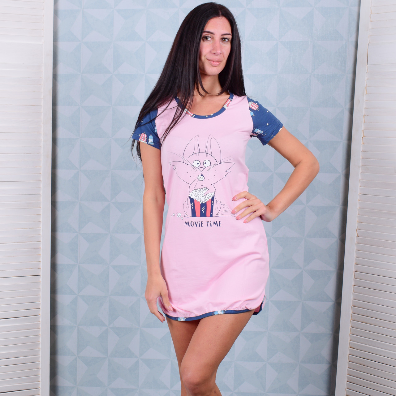 e9c32b8b231 Женская ночная рубашка Турция Pink Secret 4776 XXL. Размер 50-52 ...