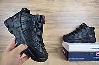 Мужские зимние кроссовки 41, 42 размер FILA высокие черные/серая надписьРеплика, фото 1