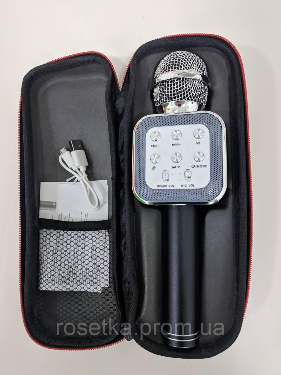 Бездротовий караоке-мікрофон з динаміком Wster WS-1818 (USB, microSD, AUX, FM, Bluetooth)