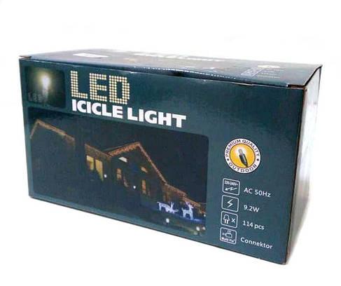 Гирлянда новогодняя сосульки LED 120 W-2 Белая, фото 2