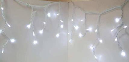 Гирлянда новогодняя сосульки LED 120 W-2 Белая, фото 3