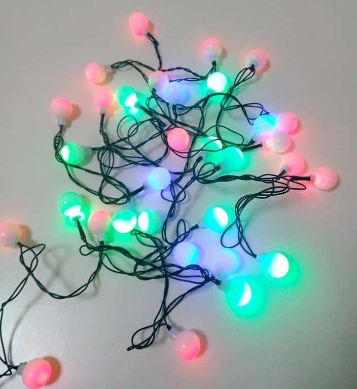 Новогодняя светодиодная гирлянда LED 40P T4 Multi шарики