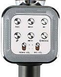 Бездротовий караоке-мікрофон з динаміком Wster WS-1818 (USB, microSD, AUX, FM, Bluetooth), фото 5