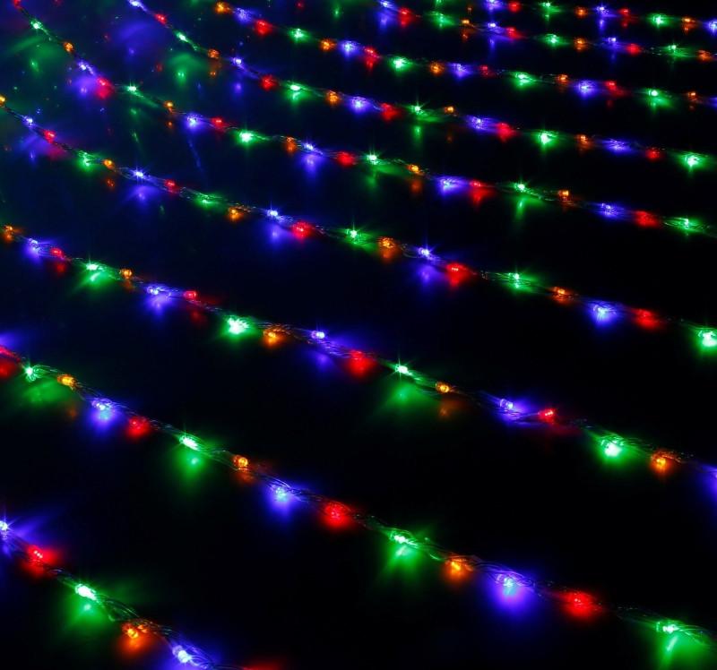 Новогодняя светодиодная гирлянда LED 240-M диодов мульти водопад