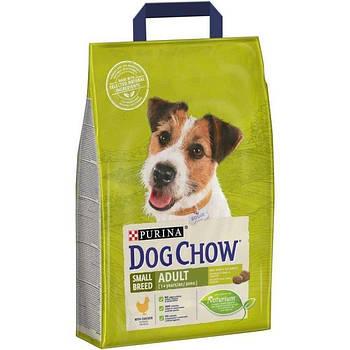 Сухой корм Dog Chow Small Breed для собак мелких пород с курицей, 2,5 кг