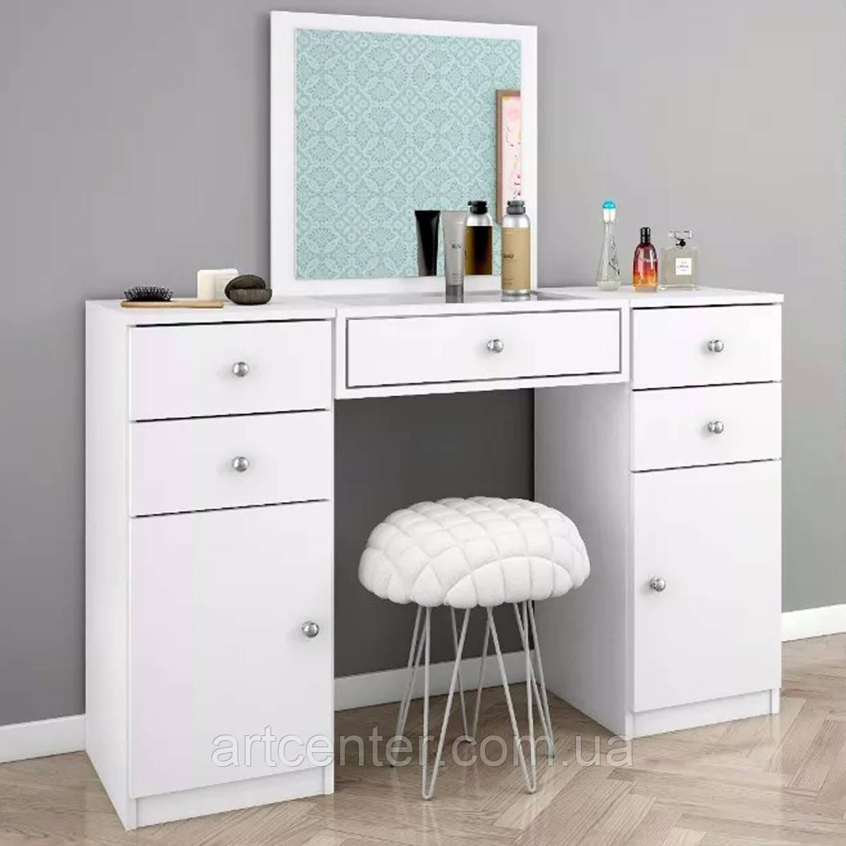 Білий туалетний стіл, косметичний стіл