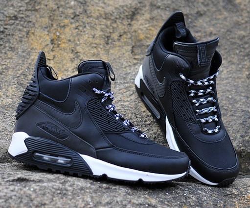 Nike Air Max 90 Sneakerboot Tech Black Summit White