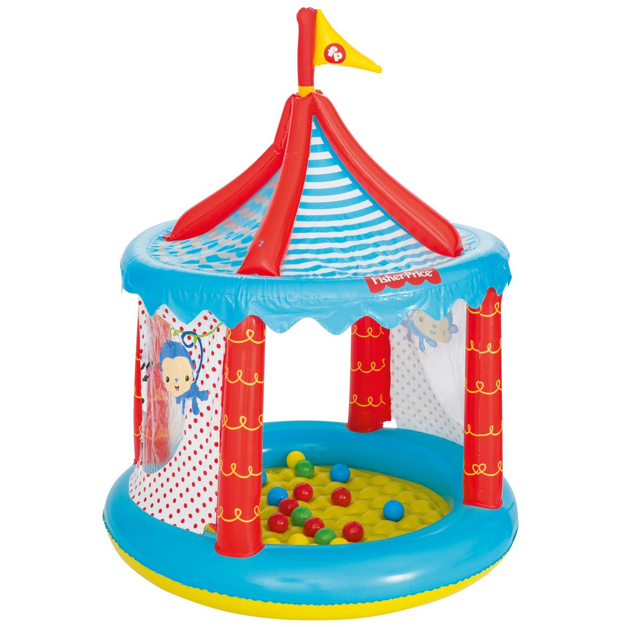 """Детский игровой надувной домик   Bestway """"Цирк""""с шариками"""