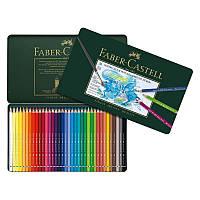Акварельные цветные карандаши Faber-Castell A.Duerer 36 цветов в металлической коробке 117536 (15439), фото 1