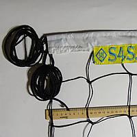 Сетка для классического волейбола «ЭКОНОМ 10» черно-белая, фото 1