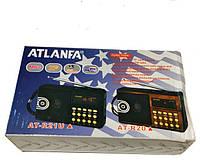 Радиоприемник ATLANFA AT-R21U  с USB, SD, FM, дисплеем, фонариком и 1-динамиком AT-R21U