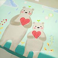 """Панелька сатин """"Мишки с сердцами"""" 160*125"""