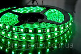 """Світлодіодна стрічка smd3528 """"Стандарт"""" MTK-300GF3528-12 №1 IP65 Led/m60 4.8 W Зелений (1012001)"""