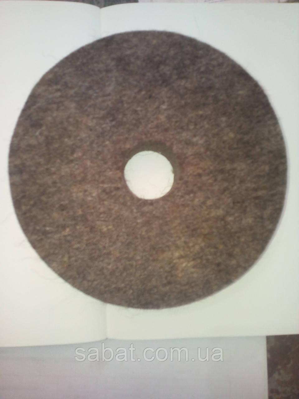 Круг войлочный полировальный жесткий 180х25х32