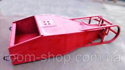 "Бадья ""Туфелька"" (лапоть, бункер, тара) для бетона объем 1 куб.м."