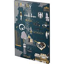 Книга записная Axent Maps 8435-09-A, интегральная обложка, B6, 80 листов, клетка, фото 2