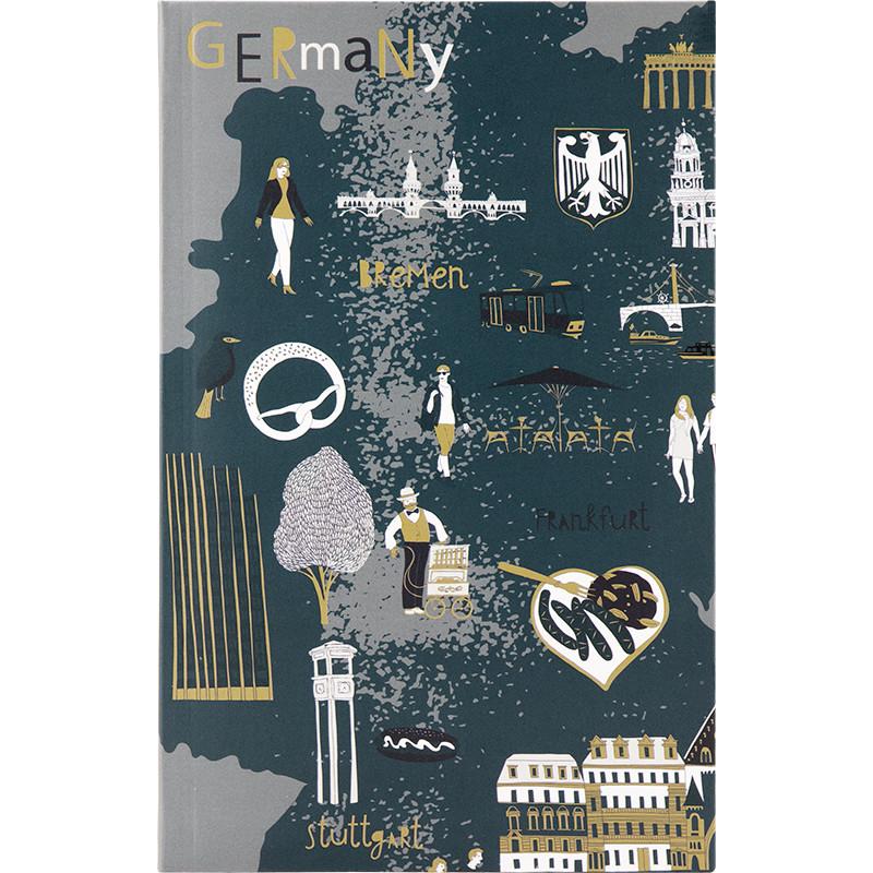 Книга записная Axent Maps 8435-09-A, интегральная обложка, B6, 80 листов, клетка