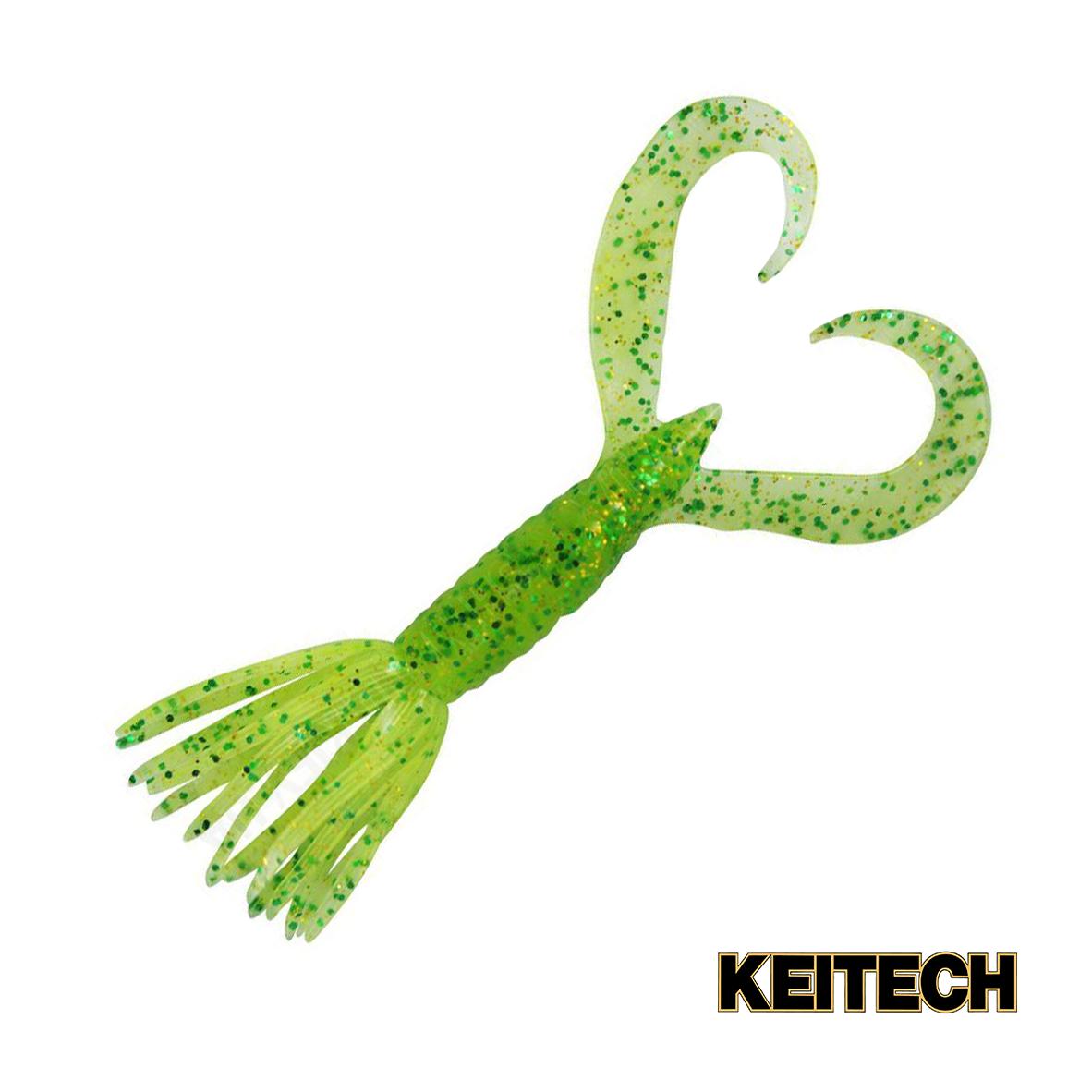 """Силикон Keitech Little Spider 3"""" (8 шт/упак) ц:424 lime chartreus"""