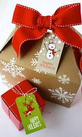 Коробочки новогодние подарочные
