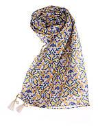 Платок, женский Maison Scotch цвет бело-желто-голубой размер Универсальный арт 70809