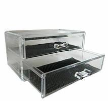 Двоярусний контейнер для косметики і біжутерії SF-1005-3