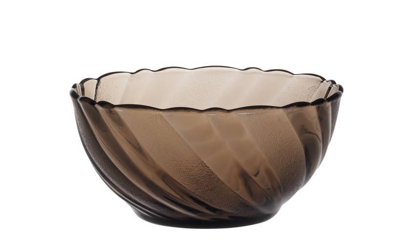 Миска-салатник Duralex Beau Rivage Crеole, дымчатое стекло, Ø 12 см, 370 мл (2001CF06)