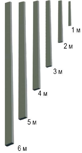 Правило для гладилки скребковой (+рукоятки в комплекте), от 1 м до 6,0 м